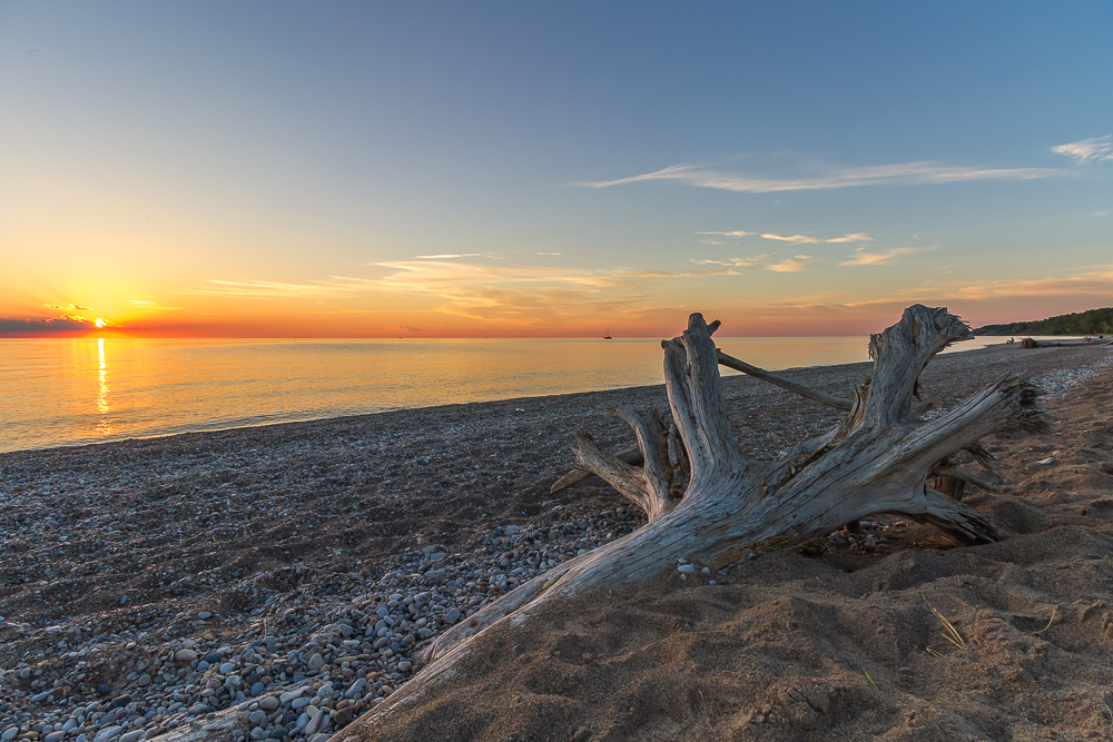 The sunsets over Lake Huron are truly breathtaking and making the short drive to take them in is well worth it.