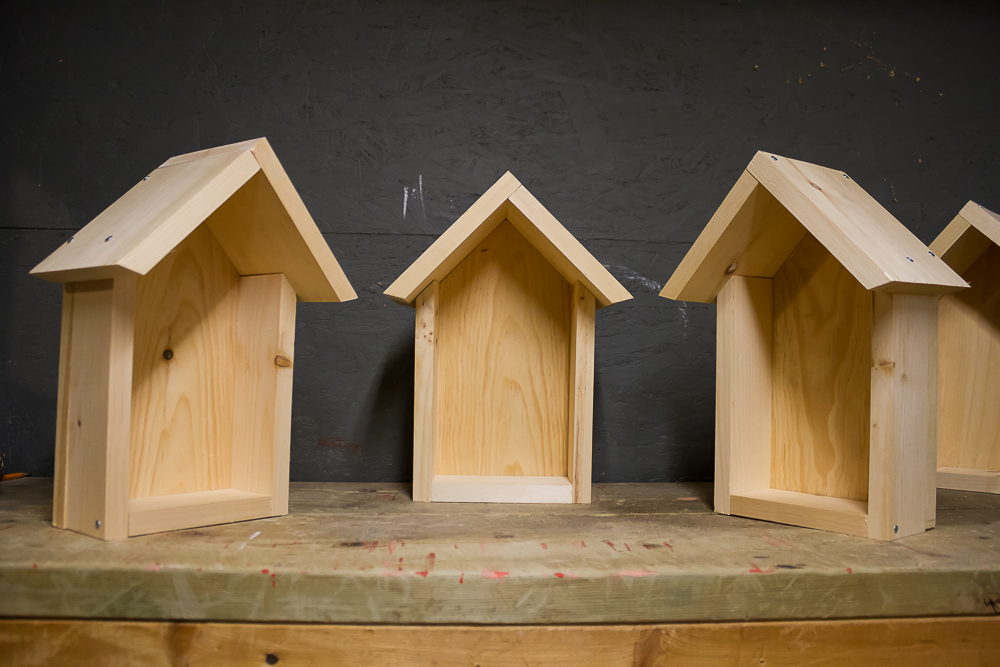 Platform nest boxes specifically designed for Barn Swallows provide nesting habitat where older structures have been removed or replaced.